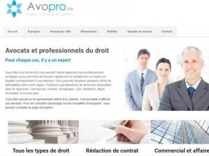Avopro : avocat et professionnels du droit