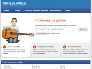 Professeur de guitare à ahunstic